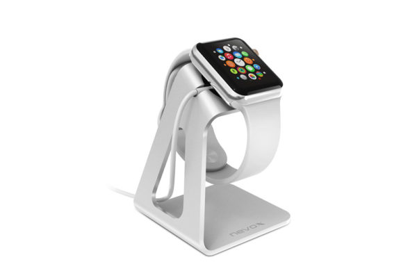 Nevox-Aluminium-Halterung-Apple-Watch-Silber-1