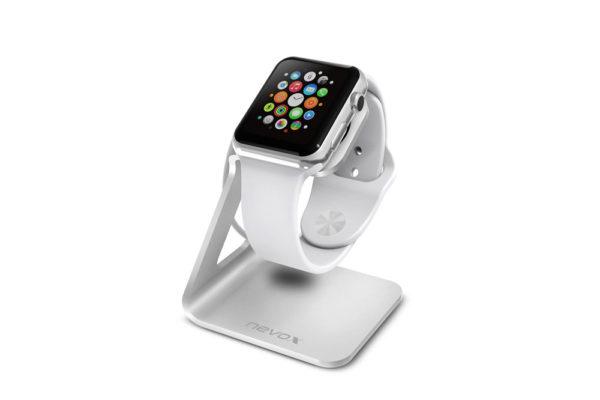 Nevox-Aluminium-Halterung-Apple-Watch-Silber