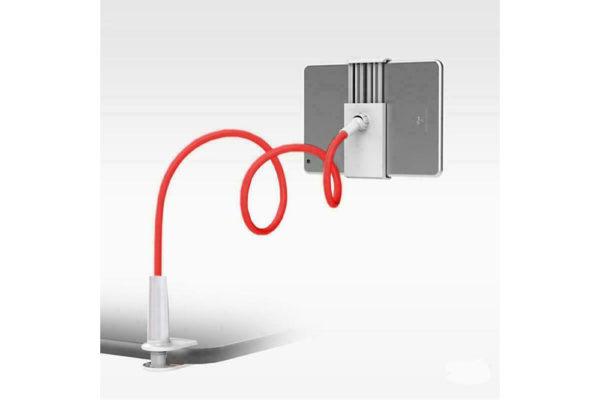 Tisch-Bett-Klemm-Ständer-Halter-Halterung-iPad-Tablet-Flexibler-Arm-rot