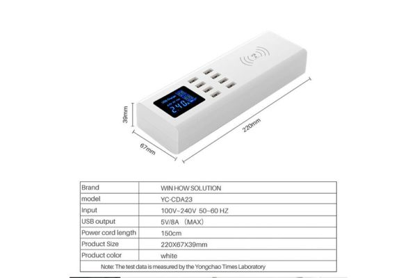 Bridge94 8-Port-USB-Adapter-Ladegerät-Ladestation-Wireless-kontaktlos-10