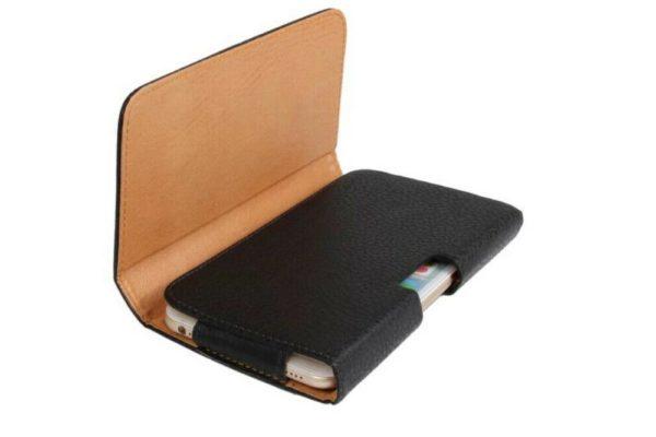 Bridge94-iPhone-Smartphone-Gürtel-Holster-Tasche-horizontal-schwarz-strukturiert-1