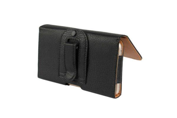 Bridge94-iPhone-Smartphone-Gürtel-Holster-Tasche-horizontal-schwarz-strukturiert-2