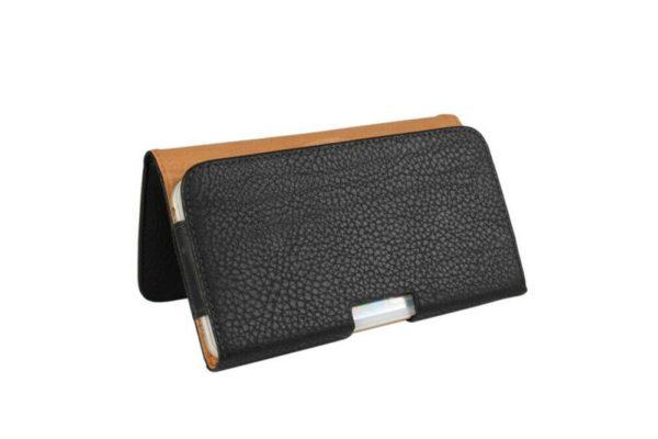 Bridge94-iPhone-Smartphone-Gürtel-Holster-Tasche-horizontal-schwarz-strukturiert-3