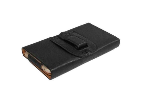 Bridge94-iPhone-Smartphone-Gürtel-Holster-Tasche-horizontal-schwarz-strukturiert-4