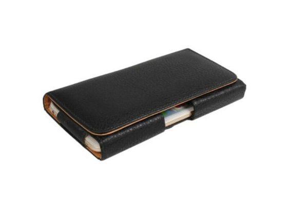 Bridge94-iPhone-Smartphone-Gürtel-Holster-Tasche-horizontal-schwarz-strukturiert-6