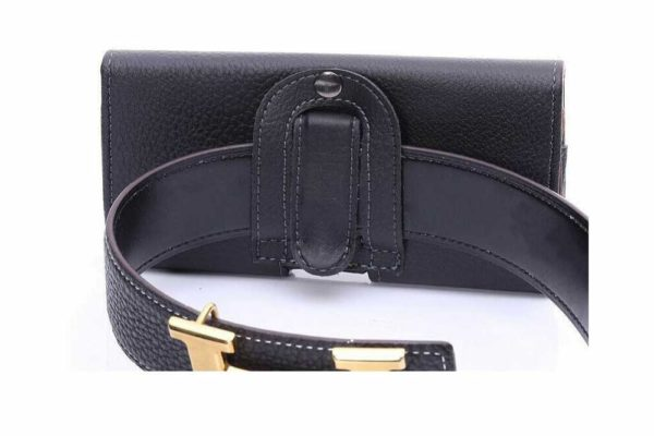 Bridge94-iPhone-Smartphone-Gürtel-Holster-Tasche-horizontal-schwarz-strukturiert-7