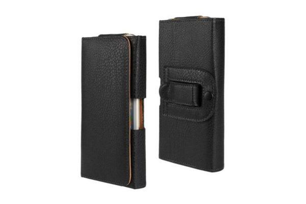Bridge94-iPhone-Smartphone-Gürtel-Holster-Tasche-horizontal-schwarz-strukturiert-8
