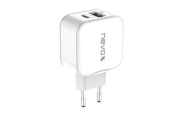 nevox-USB-PD-Type C-QC3.0-Ladegerät-18Watt-weiss-1
