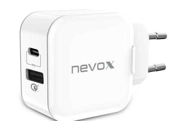 nevox-USB-PD-Type C-QC3.0-Ladegerät-18Watt-weiss-2