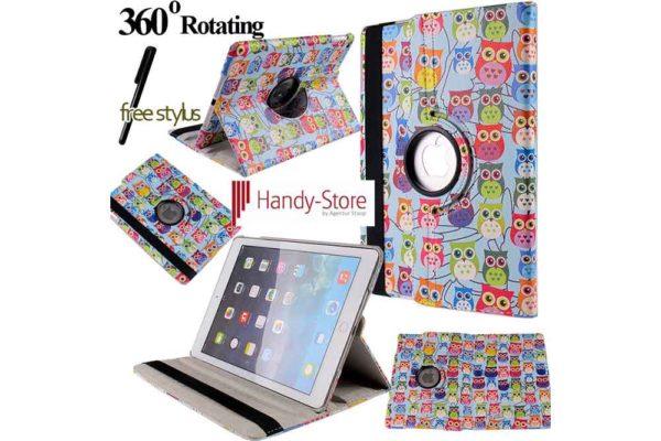 Hülle für iPad 2/3/4 - farbige Eulen