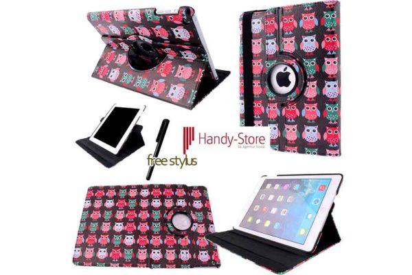 Hülle für iPad 2/3/4 - farbige Eulen 2