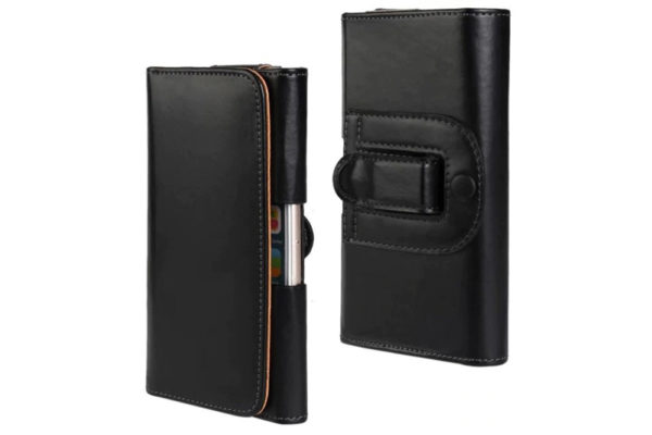 Bridge94-iPhone-Smartphone-Gürtel-Holster-Tasche-horizontal-schwarz-glatt