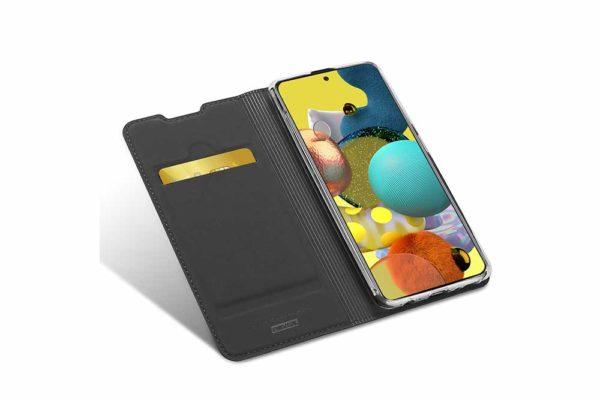 Nevox Vario Series-Samsmung-Galaxy-A41-Booktasche-Kreditkartenfach-magent-basaltgrau-1