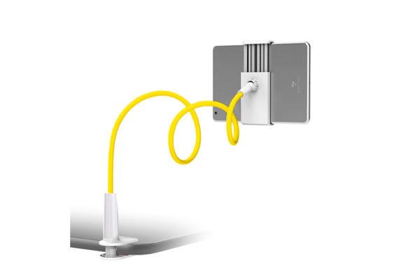 Tisch-Bett-Klemm-Ständer-Halter-Halterung-iPad-Tablet-Flexibler-Arm-gelb