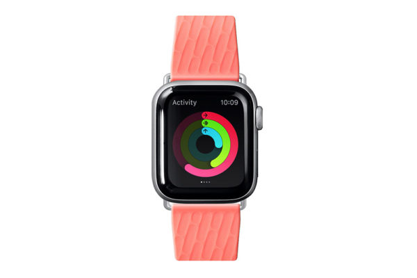 Apple-Watch-Sport-Armband-anibakteriell-Coral-2