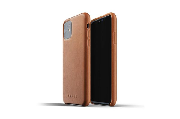 Full leather case for iPhone 11 - Tan - 1