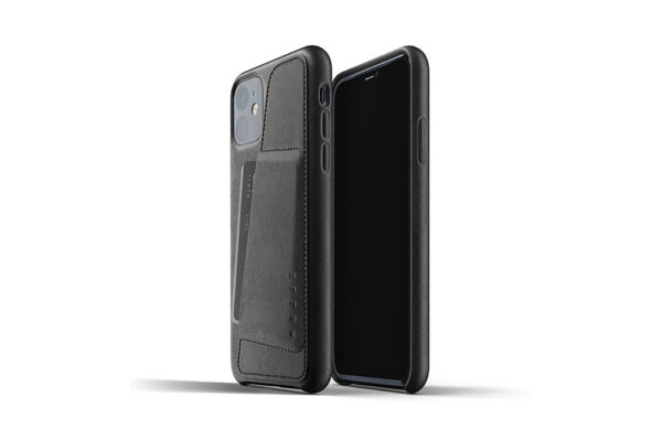 Full leather wallet case for iPhone 11 - Black -1