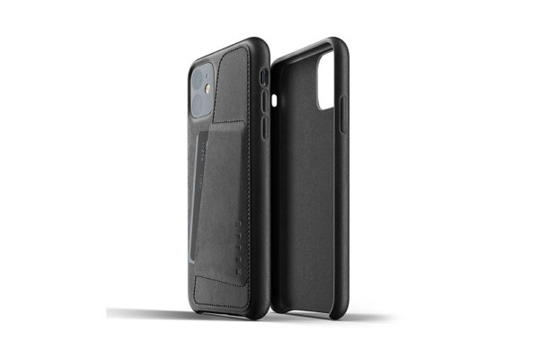 Full leather wallet case for iPhone 11 - Black -2