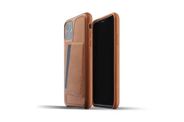 Full leather wallet case for iPhone 11 - Tan - 01