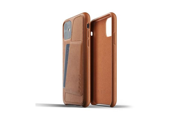 Full leather wallet case for iPhone 11 - Tan - 02