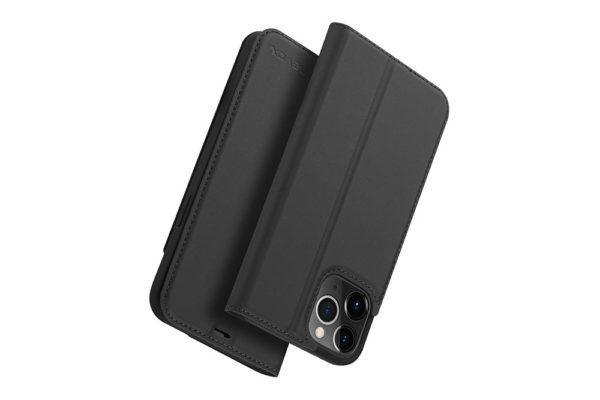 Nevox Vario Series-iPhone-12-Pro-Booktasche-Kreditkartenfach-magent-basaltgrau-4