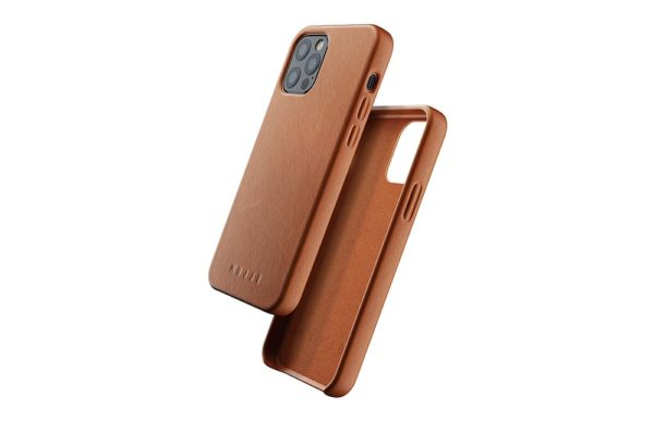 Full Leather Case for iPhone 12 & 12 Pro - Tan - 01