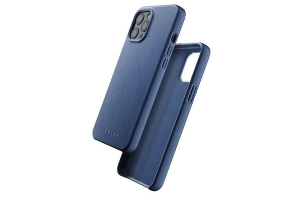 Full Leather Case for iPhone 12 Pro Max - Monaco Blue - 01