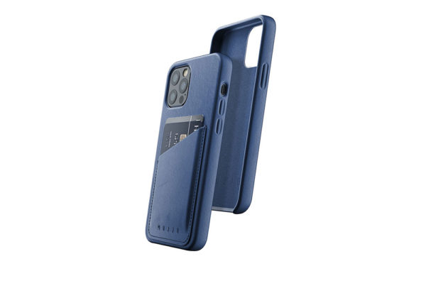 Full Leather Wallet Case for iPhone 12 & 12 Pro - Monaco Blue - 01