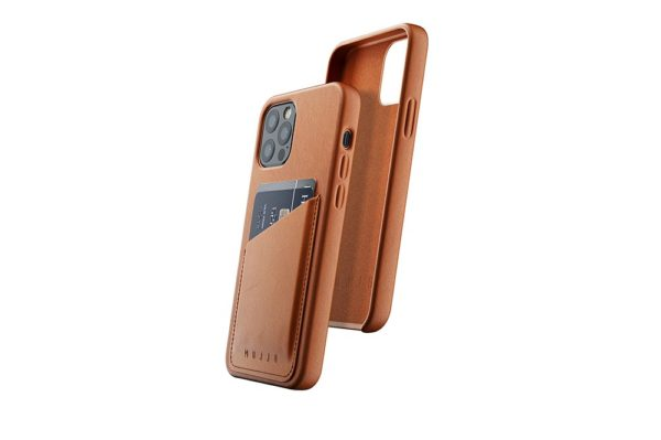 Full Leather Wallet Case for iPhone 12 & 12 Pro - Tan - 01
