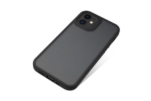 Nevox StyleShell Invisio-iPhone-12-mini-Backcover-schwarz-transparent-2