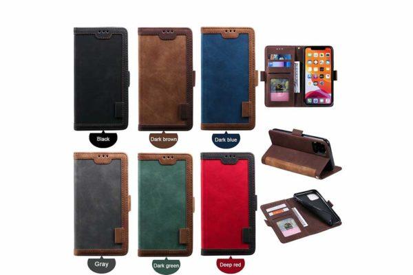 iPhone-retro-Leder-Etui-Case-Kreditkartenslot-Handschlaufe-2