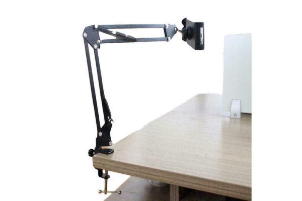 Tisch-Klemm-Ständer-Halter-Halterung-iPad-Tablet-Flexibler-Arm-Schwarz-6