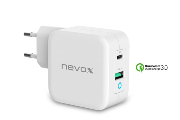 nevox-USB-PD-Type C-QC3.0-Ladegerät-65Watt-weiss-1