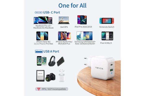 nevox-USB-PD-Type C-QC3.0-Ladegerät-65Watt-weiss-5