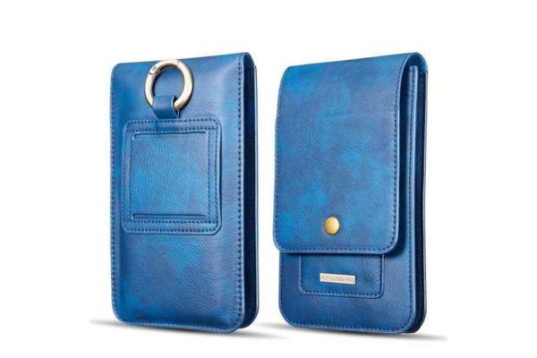 Bridge94-Gürtelholster-Tasche-Etui-Leder-Kartenfächer-blau