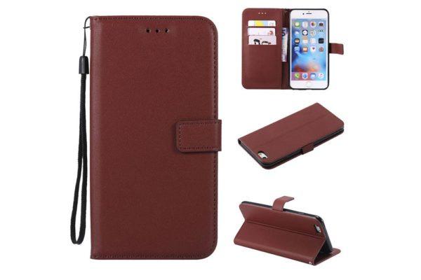 Flip-Etui-Hülle-iPhone-Braun