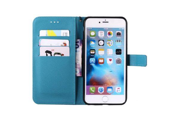 Flip-Etui-Hülle-iPhone-Tuerkis-2